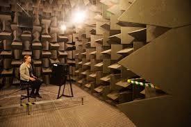 شماتيکی از طراحی آکوستيکی برای اتاق صامت